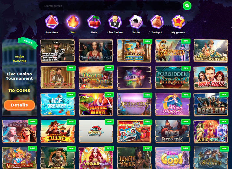 wazamba casino site screenshot