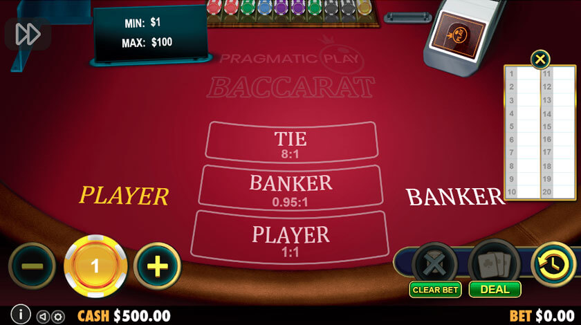 play baccarat for free online example