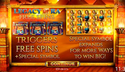 Legacy of Ra Megaways slot review and free play