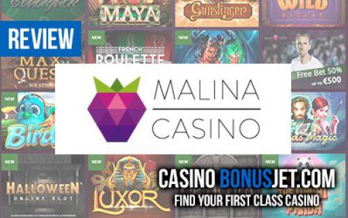 малина казино бонус код